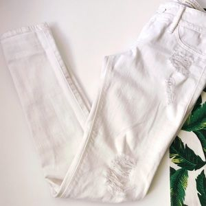 Black Orchid Denim - ➡Black Orchid White Skinny Distressed Jeans⬅