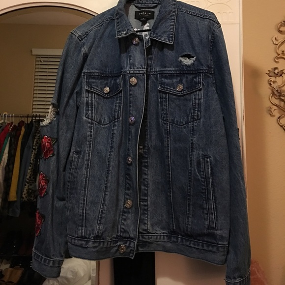 Pacsun Jackets Coats Los Angeles Rose Denim Jacket Poshmark