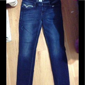Alicia Jean Denim - Alicia Distressed Embroidered Skinny Jeans Size 29