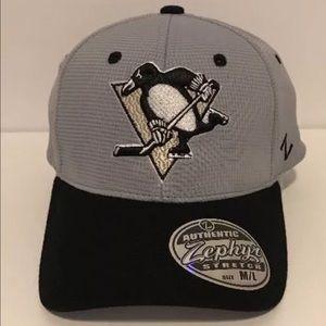 Zephyr Other - Pittsburgh Penguins Gray Flex Fit Cap M/L