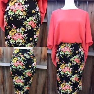 Dresses & Skirts - Brand New Pencil Skirt Floral