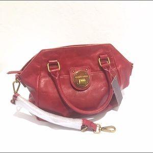 Elliott Lucca Handbags - Elliot Luca Real Leather Handbag in Cherry Red