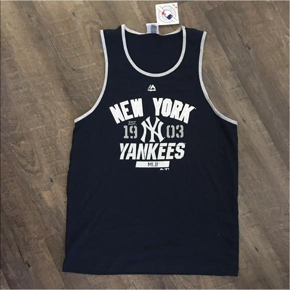 538e727b9 New Men s NY Yankees Tank Top Majestic MLB Large