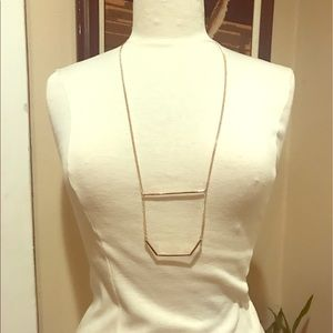 Gold plated long pendent necklace