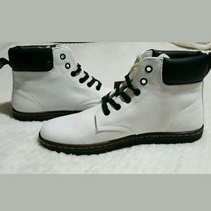 Dr. Martens Shoes - Dr. Martens Maelly White Lace Up Ankle Boot Size 9