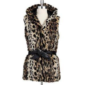 Faux Cheetah Vest