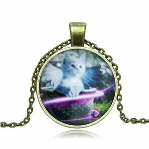 Jewelry - White Angel Cat Remembrance Necklace