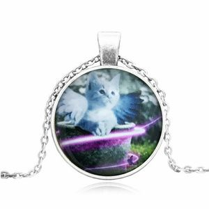Jewelry - White Angel Cat Pet Memorial Necklace