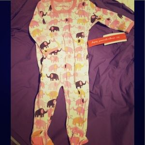 Magnificent Baby Other - NWT pink & brown elephant pjs by magnificent baby