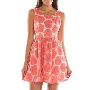 SALE Lauren Conrad Floral Coral Lace Dress