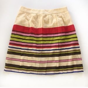 LOFT Dresses & Skirts - Ann Taylor LOFT pleated striped mini skirt