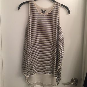 Semra Sequin Striped Theory Top