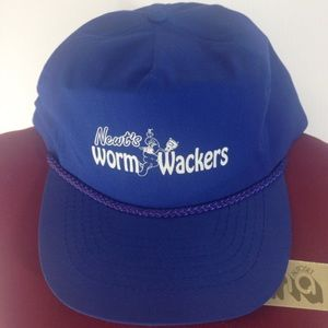 Otto Other - EUC NEWTS WORM WACKERS Blue Adjustable Trucker Hat