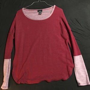 Rue21 long sleeve maroon shirt