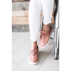 Shoes - 🆕 Blush Faux Suede Slip on Sneakers