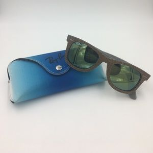 Ray-Ban Other - denim Raybans with green flash lenses