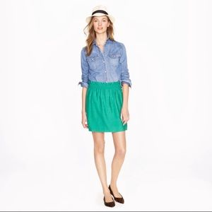 J. Crew Teal paper bag city skirt