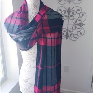 Five Four Other - Men's Five Four Plaid Red and Black Scarf