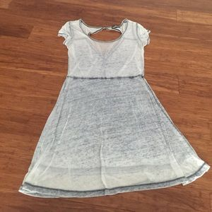Freshman Dresses & Skirts - Gray/Blue Dress w/ Small Cut-out Back
