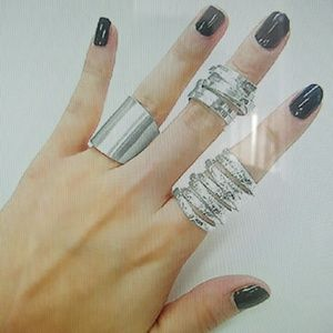 HaiA Accessories metal ring set