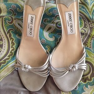 Jimmy Choo Shoes - 😍Jimmy Choo silver sandals size 37.5/ 7