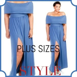 Passion of Essense Dresses & Skirts - COMING SOON Plus Size off The Shoulder Maxi Dress