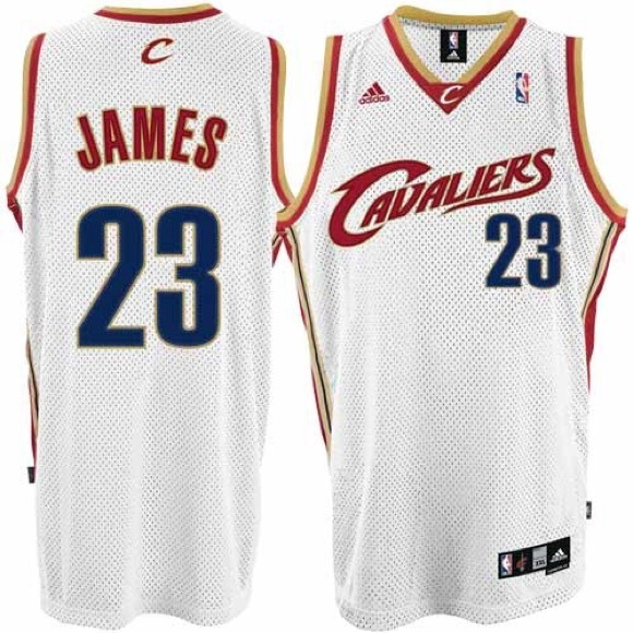 lebron james white jersey