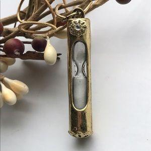 Jewelry - Brass working hourglass pendant necklace