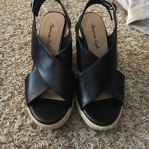 American Eagle by Payless Shoes - BNWOT  wedges black