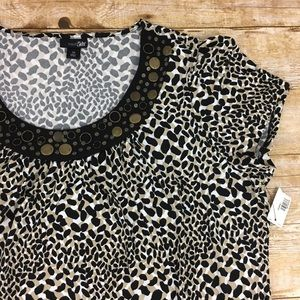 East 5th Tops - Embellished Short Sleeve Top NWT Plus Size