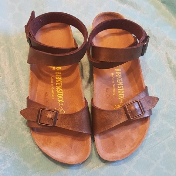 9ca28e250b96 Birkenstock Shoes - Birkenstock Daloa Ankle Strap Sandals Size 36