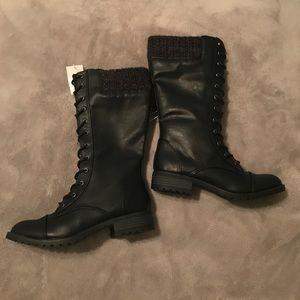 Joe Boxer Shoes - NWT Black Combat Boots