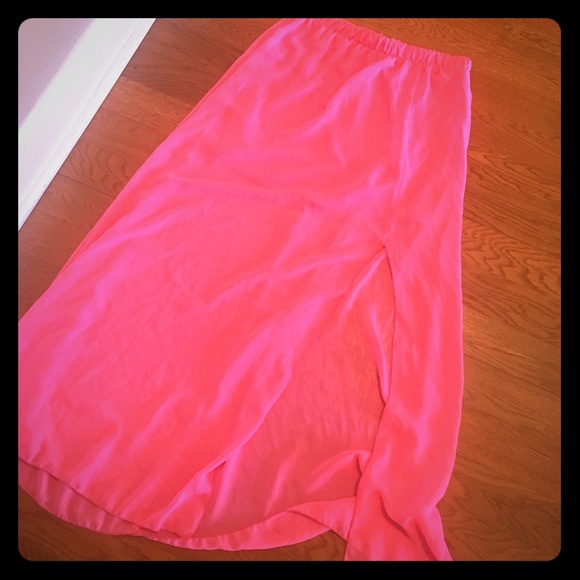 57 off charlotte russe dresses amp skirts neon pink long