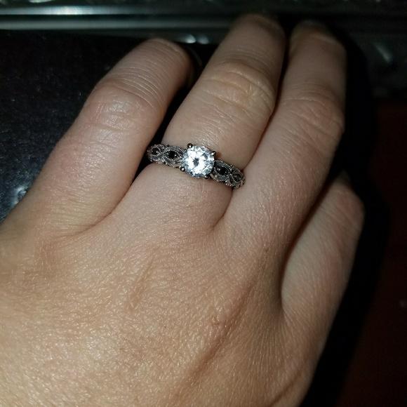 66% off Kay Jewelers Jewelry White sapphire and black diamond engagement ri