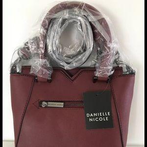 Danielle Nicole Handbags - Danielle Nicole Plum Cora Crossbody Satchel Bag