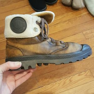 Palladium Shoes - PALLADIUM SIZE 7 BROWN SNEAKERS LACE UPS