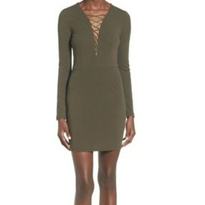 Missguided Dresses & Skirts - RDUCED NWT Missguided Lace-up plunge mini dress