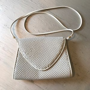 Vintage Whiting & Davis Ivory Mesh Envelope Bag