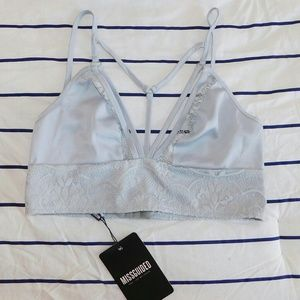 Missguided Tops - Missguided Grey Strappy Lace Bralette