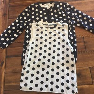 Liz Claiborne Sweaters - Polka dot tank and sweater