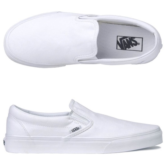 351baacdcd1e Vans all white slip on pro