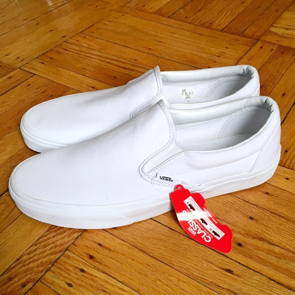 62% off Vans Other - 🆕🚨 Vans all white slip on pro from ...