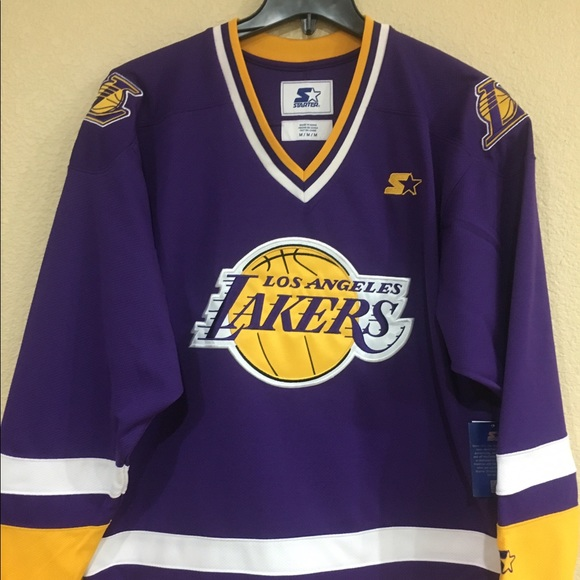 67226af79 Los Angeles Lakers Hockey Jersey by Starter - NBA