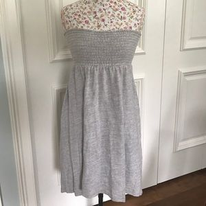 Anthropologie Gray Strapless Hi-Low Tube Top Dress