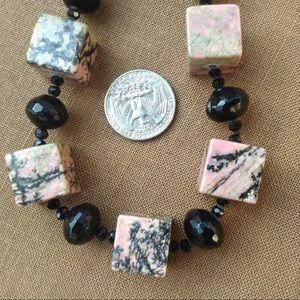 Jewelry - Statement Rhodochrosite Bead Necklace OOAK