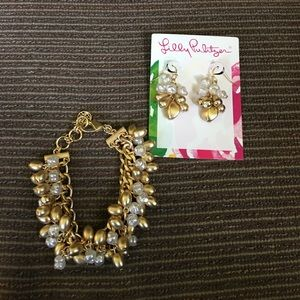 Matching Lilly Pulitzer Bracelet and Earring Set