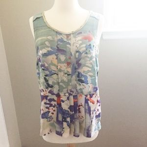 Tops - Anthropologie Silk Printed Blouse