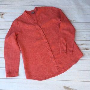J. Jill Tops - {J Jill} linen button down shirt.