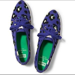 Kate Spade x Keds Pointed Leopard Canvas Sneakers