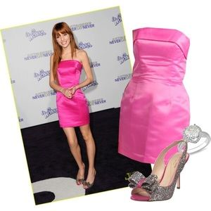Betsy Johnson Pink Satin Dress 0 / XS